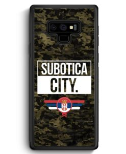 Samsung Galaxy Note 9 Hülle Silikon - Subotica City Camouflage Serbien