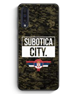 Samsung Galaxy A50 Silikon Hülle - Subotica City Camouflage Serbien