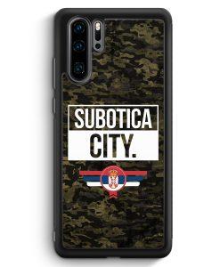 Huawei P30 Pro Silikon Hülle - Subotica City Camouflage Serbien