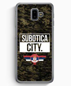 Samsung Galaxy J6+ Plus (2018) Hardcase Hülle - Subotica City Camouflage Serbien