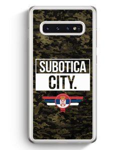 Samsung Galaxy S10+ Plus Hardcase Hülle - Subotica City Camouflage Serbien