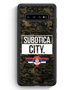 Samsung Galaxy S10e Silikon Hülle - Subotica City Camouflage Serbien