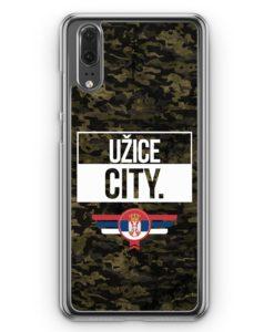Huawei P20 Hülle Hardcase - Uzice City Camouflage Serbien