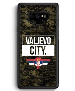 Samsung Galaxy Note 9 Hülle Silikon - Valjevo City Camouflage Serbien
