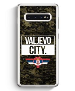 Samsung Galaxy S10+ Plus Hardcase Hülle - Valjevo City Camouflage Serbien