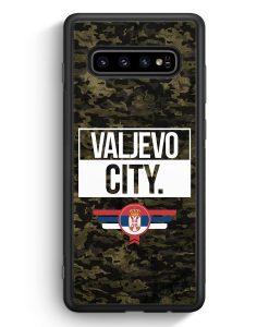 Samsung Galaxy S10e Silikon Hülle - Valjevo City Camouflage Serbien