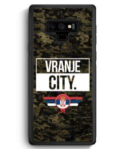 Samsung Galaxy Note 9 Hülle Silikon - Vranje City Camouflage Serbien