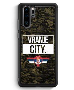 Huawei P30 Pro Silikon Hülle - Vranje City Camouflage Serbien