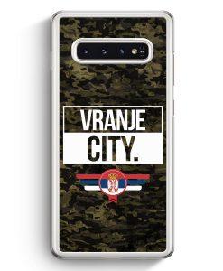 Samsung Galaxy S10+ Plus Hardcase Hülle - Vranje City Camouflage Serbien