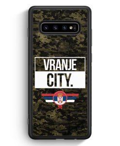 Samsung Galaxy S10e Silikon Hülle - Vranje City Camouflage Serbien