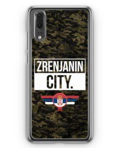 Huawei P20 Hülle Hardcase - Zrenjanin City Camouflage Serbien