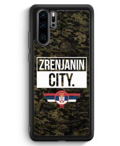 Huawei P30 Pro Silikon Hülle - Zrenjanin City Camouflage Serbien