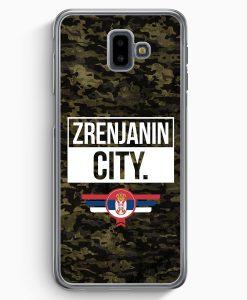 Samsung Galaxy J6+ Plus (2018) Hardcase Hülle - Zrenjanin City Camouflage Serbien