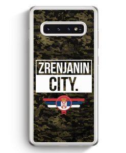 Samsung Galaxy S10+ Plus Hardcase Hülle - Zrenjanin City Camouflage Serbien
