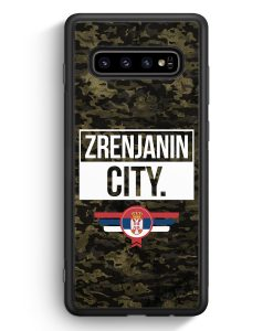 Samsung Galaxy S10e Silikon Hülle - Zrenjanin City Camouflage Serbien