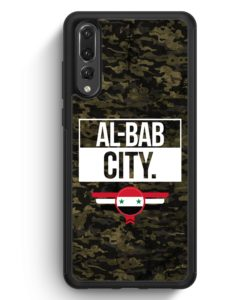 Huawei P20 Pro Hülle Silikon - Al Bab City Camouflage Syrien