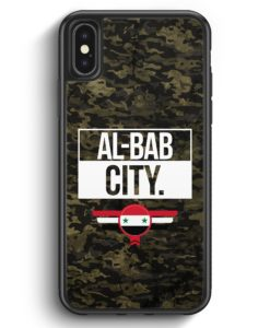 iPhone X & iPhone XS Silikon Hülle - Al Bab City Camouflage Syrien