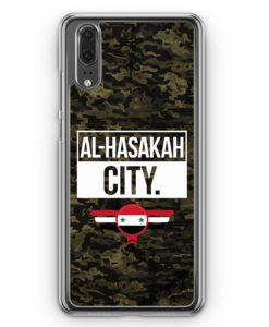 Huawei P20 Hülle Hardcase - Al Hasakah City Camouflage Syrien