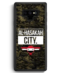 Samsung Galaxy Note 9 Hülle Silikon - Al Hasakah City Camouflage Syrien