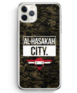 iPhone 11 Pro Max Hardcase Hülle - Al Hasakah City Camouflage Syrien
