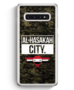 Samsung Galaxy S10+ Plus Hardcase Hülle - Al Hasakah City Camouflage Syrien
