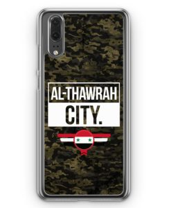 Huawei P20 Hülle Hardcase - Al Thawrah City Camouflage Syrien