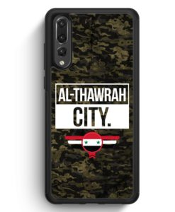 Huawei P20 Pro Hülle Silikon - Al Thawrah City Camouflage Syrien