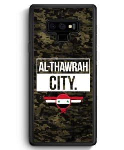 Samsung Galaxy Note 9 Hülle Silikon - Al Thawrah City Camouflage Syrien