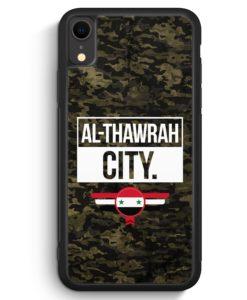 iPhone XR Silikon Hülle - Al Thawrah City Camouflage Syrien