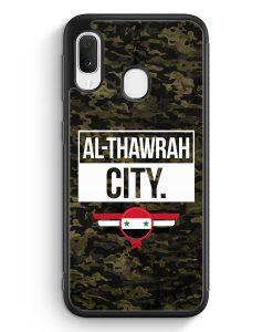 Samsung Galaxy A20e Silikon Hülle - Al Thawrah City Camouflage Syrien