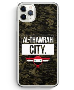 iPhone 11 Pro Max Hardcase Hülle - Al Thawrah City Camouflage Syrien