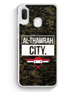 Samsung Galaxy A20e Hardcase Hülle - Al Thawrah City Camouflage Syrien