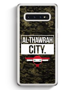 Samsung Galaxy S10+ Plus Hardcase Hülle - Al Thawrah City Camouflage Syrien