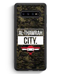 Samsung Galaxy S10e Silikon Hülle - Al Thawrah City Camouflage Syrien