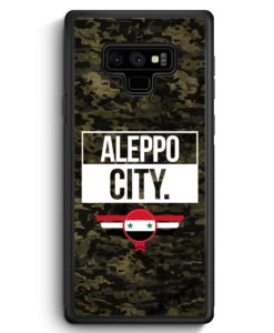 Samsung Galaxy Note 9 Hülle Silikon - Aleppo City Camouflage Syrien
