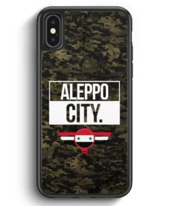 iPhone X & iPhone XS Silikon Hülle - Aleppo City Camouflage Syrien
