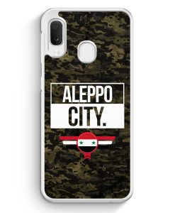 Samsung Galaxy A20e Hardcase Hülle - Aleppo City Camouflage Syrien