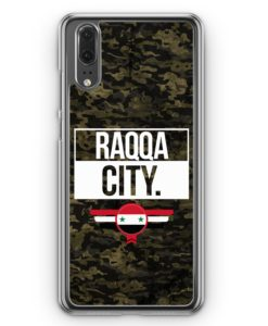 Huawei P20 Hülle Hardcase - Raqqa City Camouflage Syrien