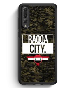 Huawei P20 Pro Hülle Silikon - Raqqa City Camouflage Syrien