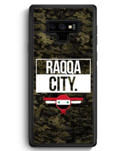 Samsung Galaxy Note 9 Hülle Silikon - Raqqa City Camouflage Syrien