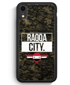 iPhone XR Silikon Hülle - Raqqa City Camouflage Syrien
