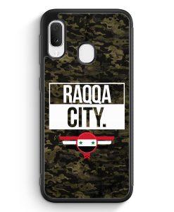 Samsung Galaxy A20e Silikon Hülle - Raqqa City Camouflage Syrien