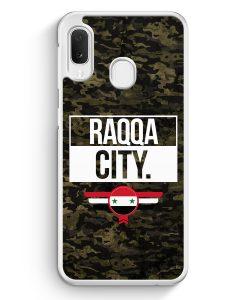 Samsung Galaxy A20e Hardcase Hülle - Raqqa City Camouflage Syrien