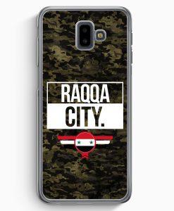 Samsung Galaxy J6+ Plus (2018) Hardcase Hülle - Raqqa City Camouflage Syrien