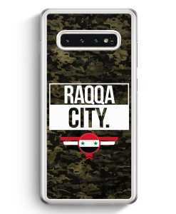 Samsung Galaxy S10+ Plus Hardcase Hülle - Raqqa City Camouflage Syrien