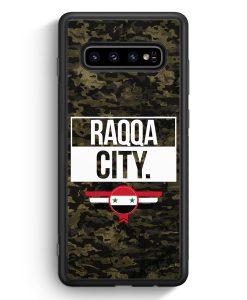 Samsung Galaxy S10e Silikon Hülle - Raqqa City Camouflage Syrien