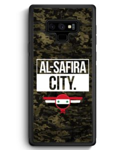 Samsung Galaxy Note 9 Hülle Silikon - Al Safira City Camouflage Syrien