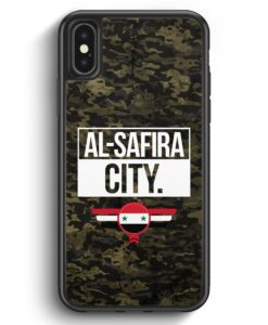 iPhone X & iPhone XS Silikon Hülle - Al Safira City Camouflage Syrien