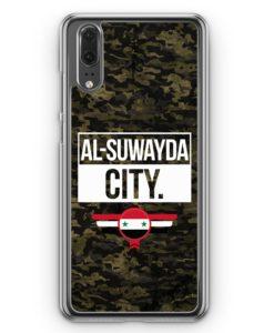 Huawei P20 Hülle Hardcase - Al Suwayda City Camouflage Syrien