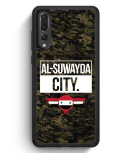 Huawei P20 Pro Hülle Silikon - Al Suwayda City Camouflage Syrien
